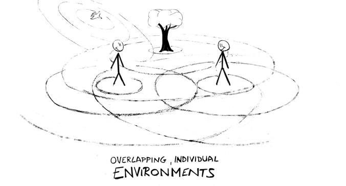 Overlapping, individual environments